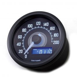 velona60 electrical speedometer 200 kmh mph white led
