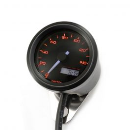 velona 48 electrical speedometer 140 kmh mph 3 color led black orange LED